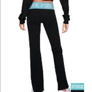 Pink Victoria secret Flat Waist Yoga Pants
